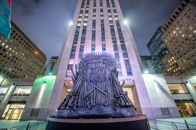 the iron throne from hbo's game of thrones