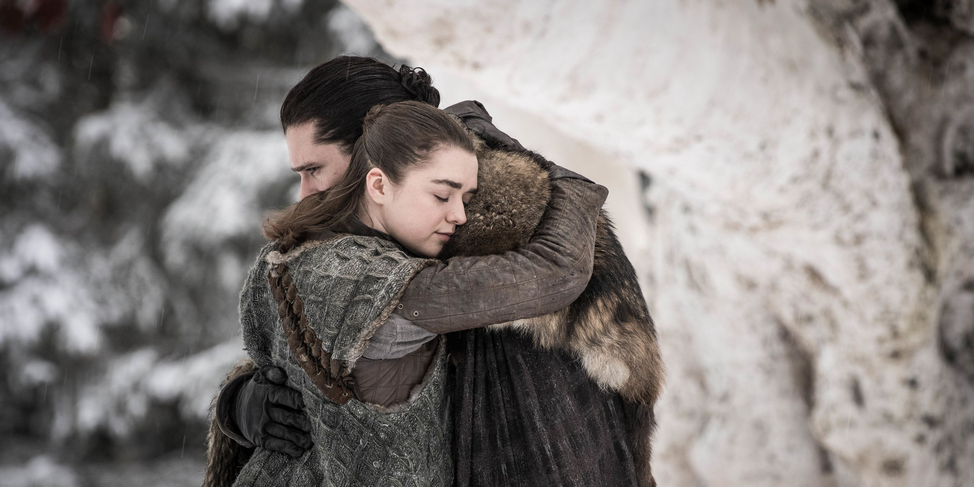 Game of Thrones season 8 episode 1: Arya and Jon Snow
