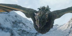 Game of Thrones season 8 episode 1: Jon Snow flying a dragon