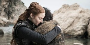 Game of Thrones season 8 finale, Sansa Stark (Sophie Turner), Jon Snow (Kit Harington)