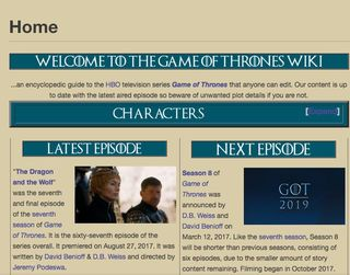 8 websites all game of thrones obsessives should know about game of thrones wiki gumiabroncs Gallery