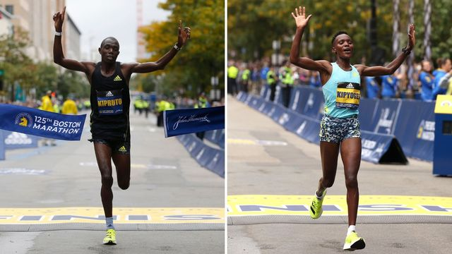 benson kipruto y diana kipyoge, ganadores del maratón de boston 2021