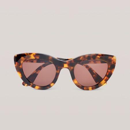 ganni tortoiseshell cat eye sunglasses