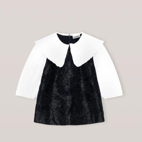 ganni peter pan collar blouse