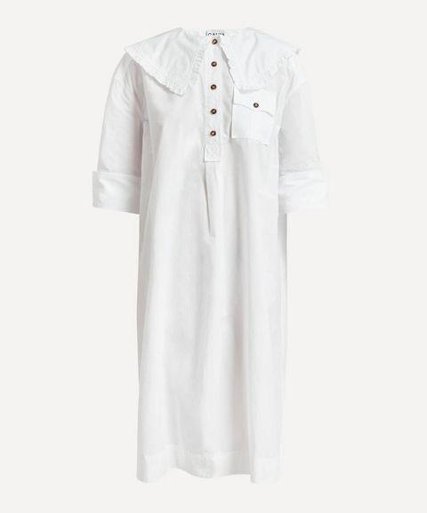ganni oversized shirt dress