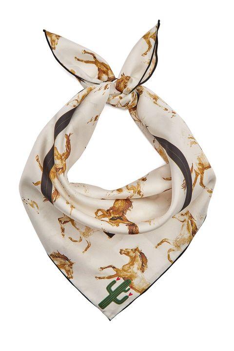 Ganni silk scarf