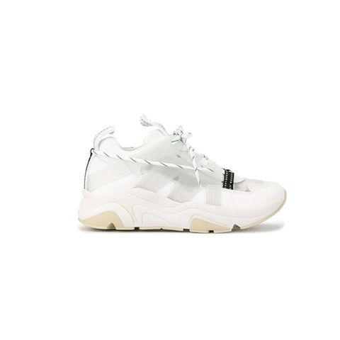 witte leren sneakers ganni