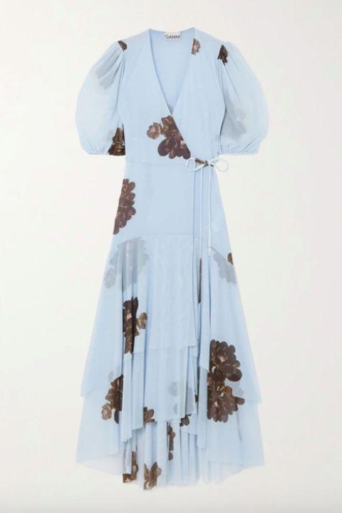 ganni wrap dress   best wrap dresses