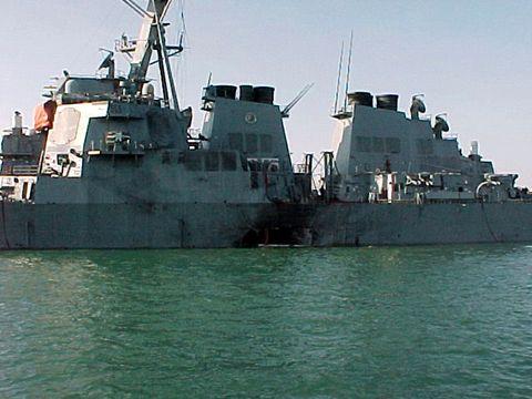 USS Cole in Yemen Port