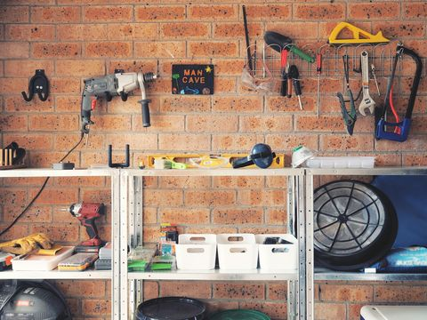 Garage used as wood working or carpentry and tools area