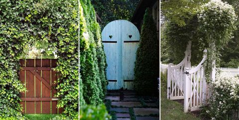 100 best outdoor decor ideas country living for Double garden gate designs
