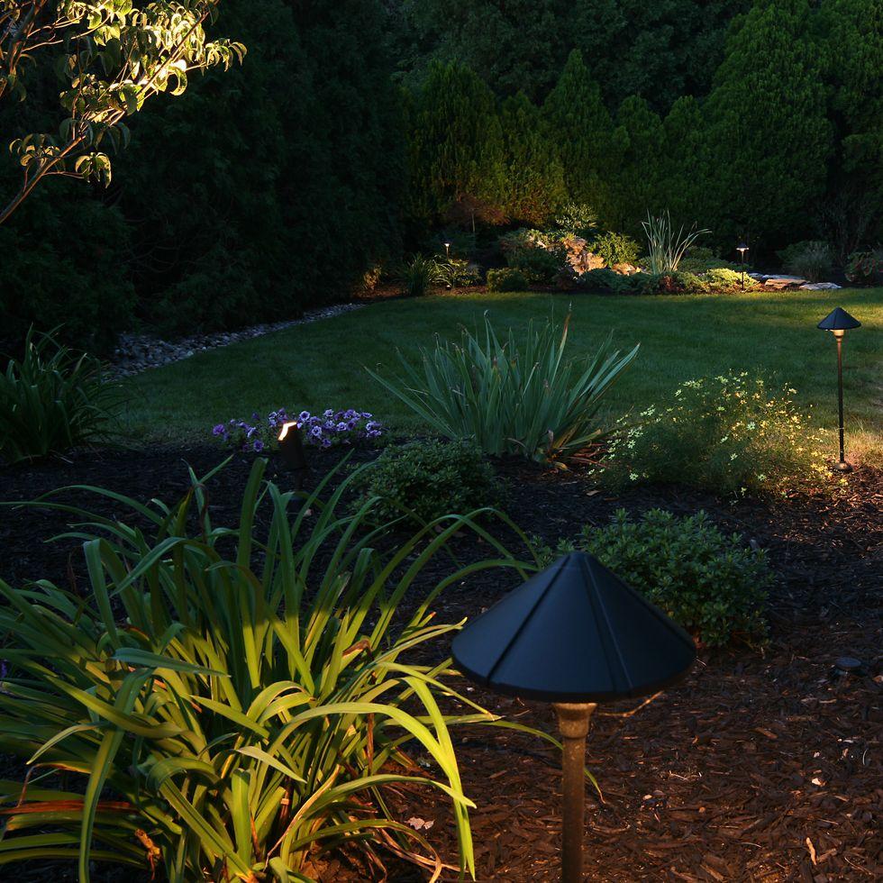 Garden lighting ideas: solar lights, fairy lights, wall lights, ground lights and electric garden lights