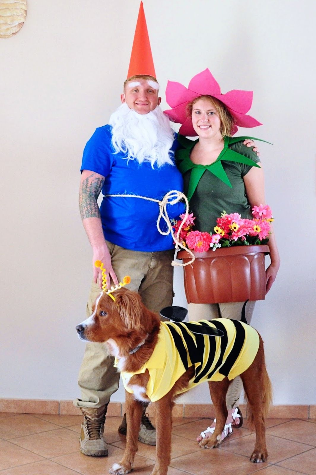 garden matching dog owners costumes