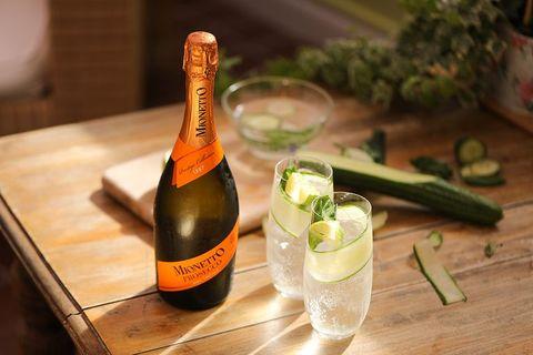 Drink, Alcoholic beverage, Food, Bottle, Alcohol, Ingredient, Champagne, Glass bottle, À la carte food, Wine,