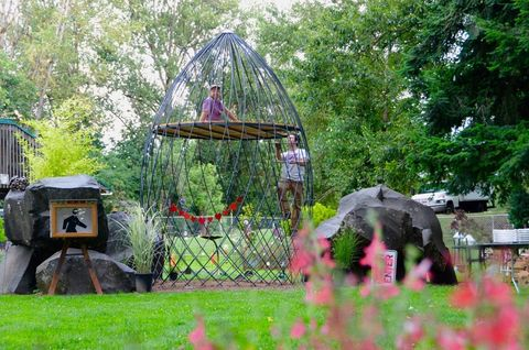 metal arbor garden playhouse treehouse