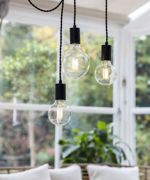 lighting from garden trading hanging in a conservatory