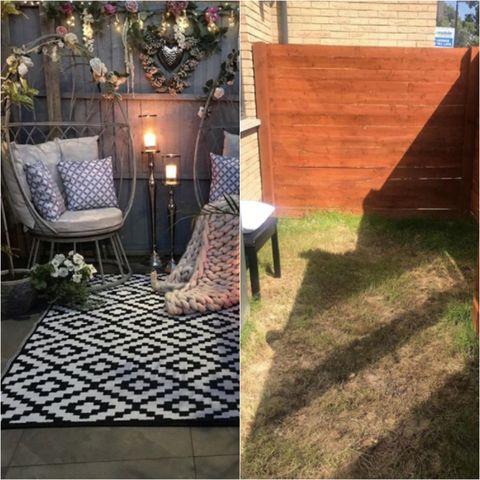 woman transforms small garden space