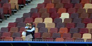 Gareth Southgate hugging