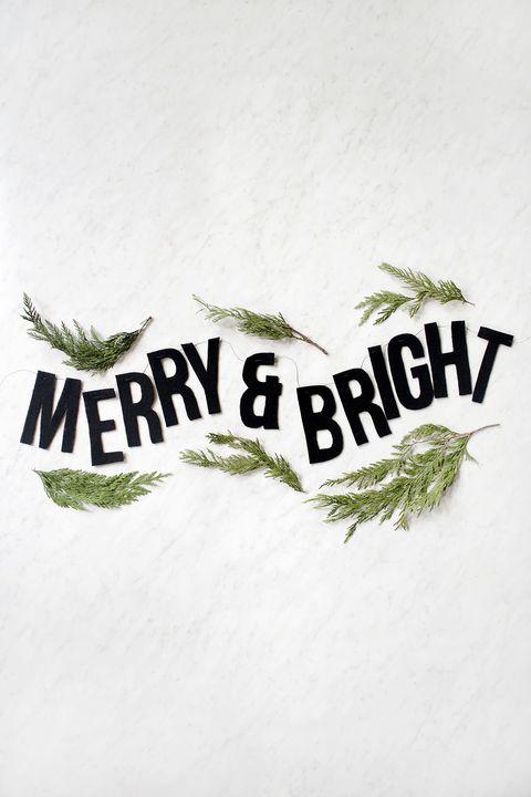 felt merry  bright garland