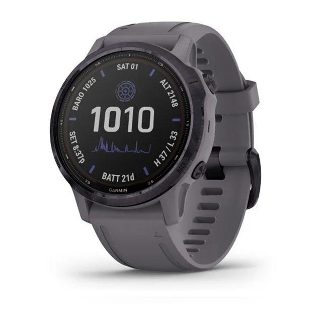 el reloj deportivo garmin fénix 6 pro solar en color gris