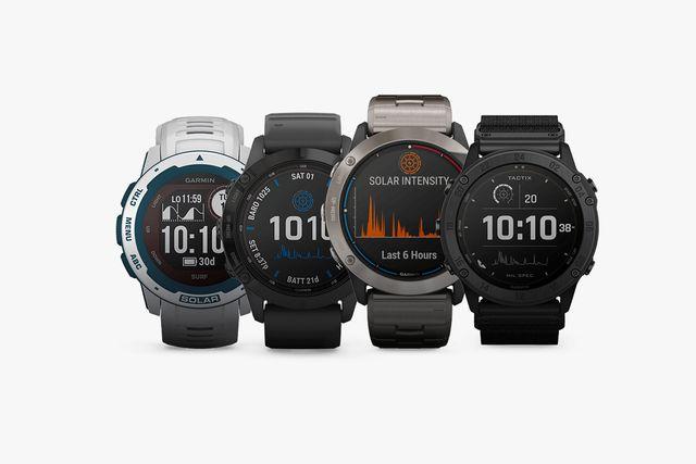 garmin's lineup of new solar smartwatches