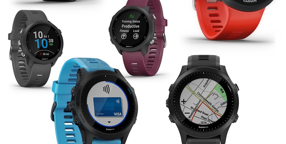 the new garmin forerunner 45, 245, 945 running gps watch