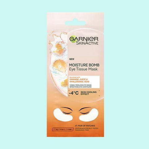 Garnier Moisture Bomb Eye Tissue Mask Hyaluronic Acid and Orange Juice