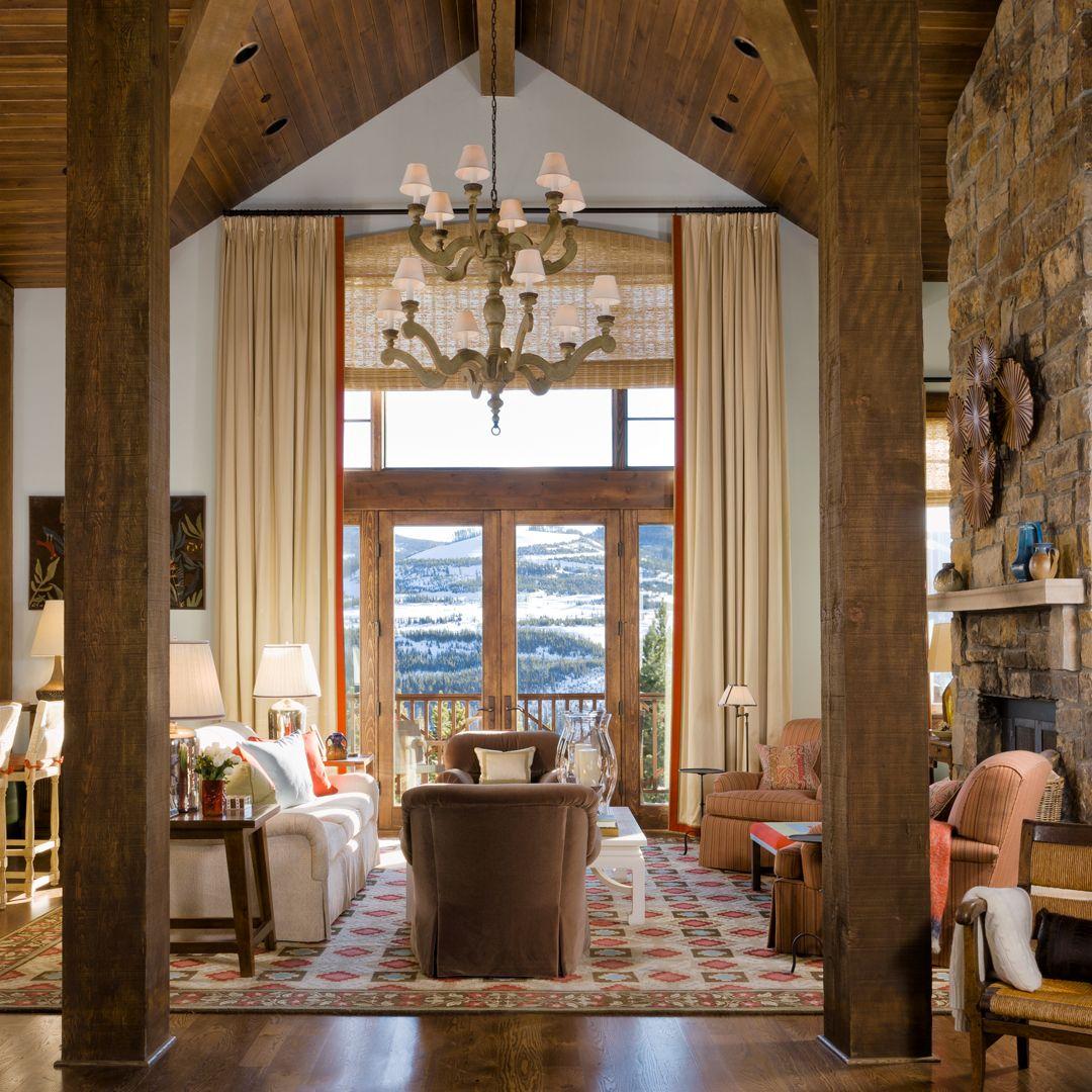 Rustic Living Rooms .