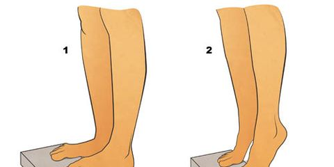 calf muscle strengthening illustration