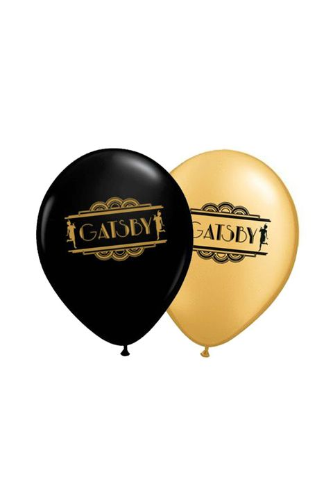 PArty Packs 1920's Gatsby Black and Gold 10inch Balloons