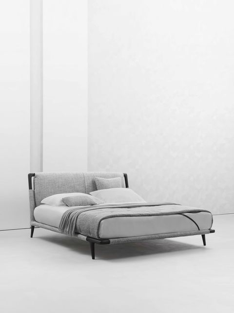 stylish bedroom buys 'gaudi' double bed by matteo nunziati for flou at aram store