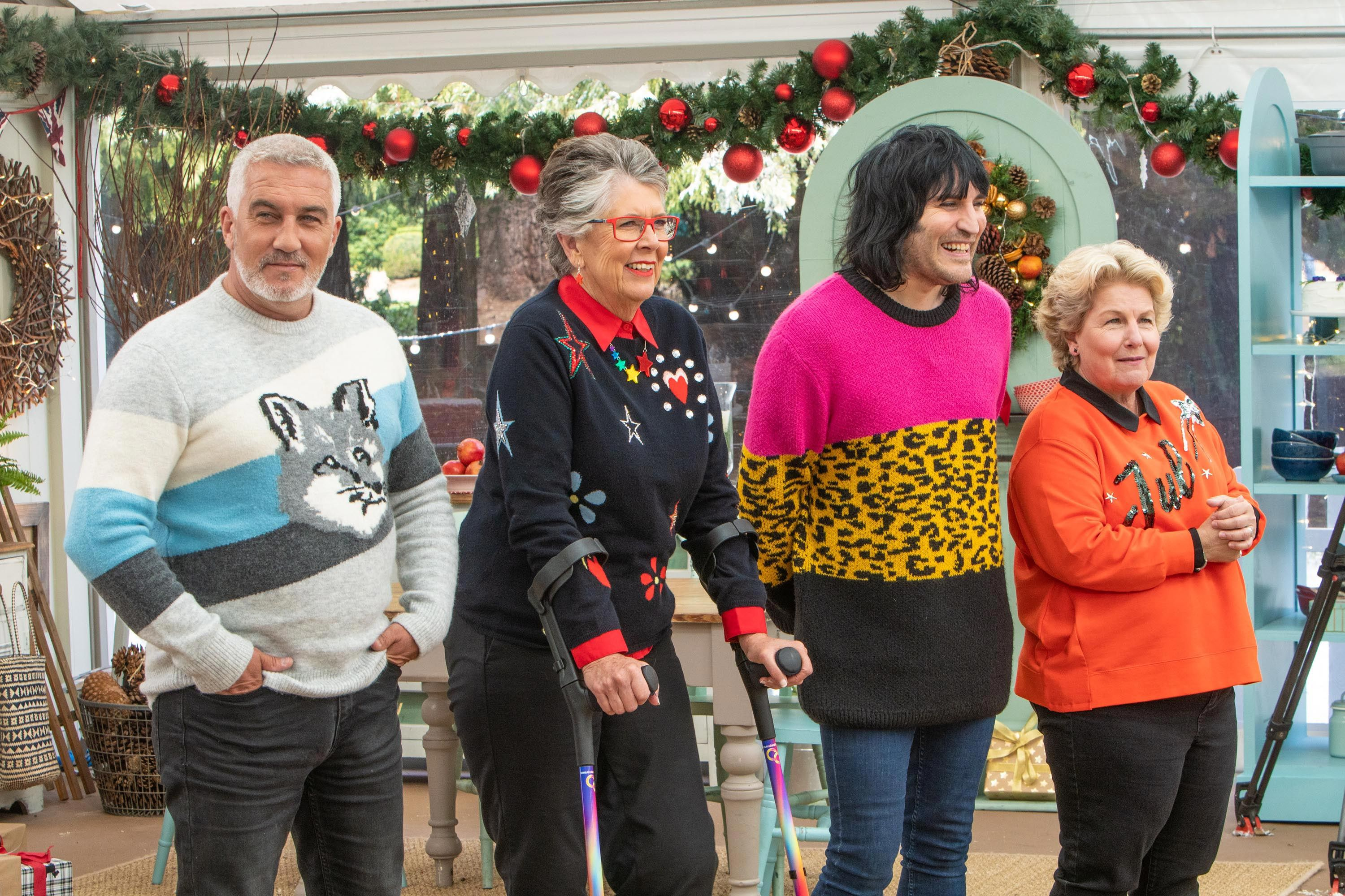 Great British Bake Off's Noel Fielding, Paul Hollywood and Prue Leith are all returning