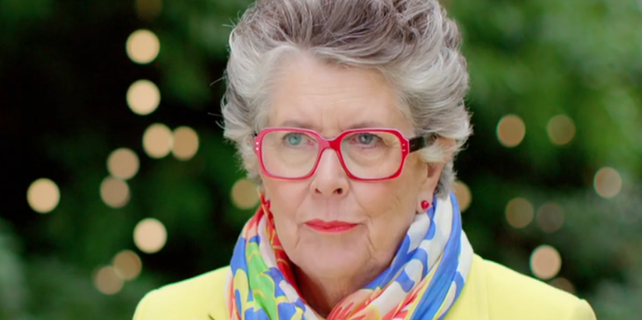 Great British Bake Off's Prue Leith unveils blue hair transformation for Christmas special