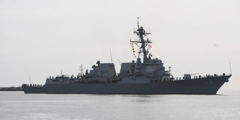 USS Jason Dunham destroyer visits Gdynia port, Poland