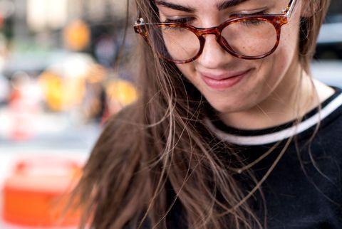 Eyewear, Glasses, Finger, Hand, Lip, Vision care, Cool, Nail, Photography, Sunglasses,