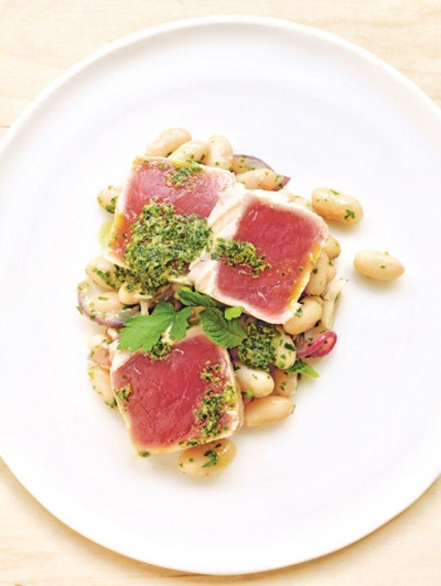 Gegrilde tonijn groenten