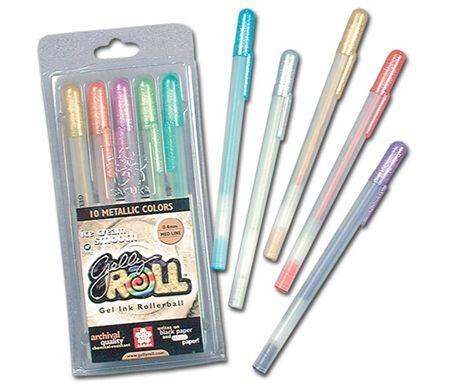 old school supplies gelly roll