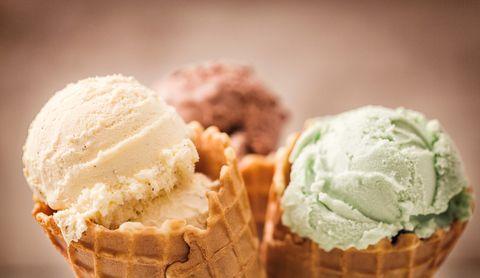 Vanilla, Chocolate and Pistachio Ice Cream