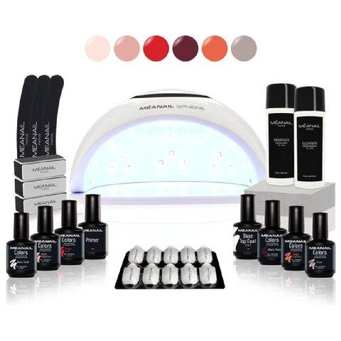 meanail® kit sphere uvled lamp 48w   6 kleuren cruelty free   gel nagellak