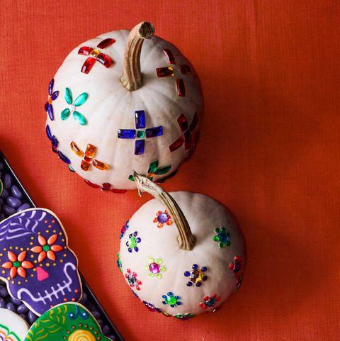 halloween party ideas -Jewel Toned Pumpkin Painting Idea