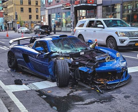 Gemballa Mirage GT wrecked on the streets of NYC