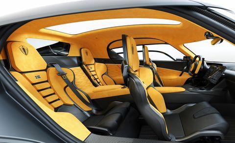 1677-HP Koenigsegg Gemera Has 3 Motors, 4 Seats, 8 Cupholders