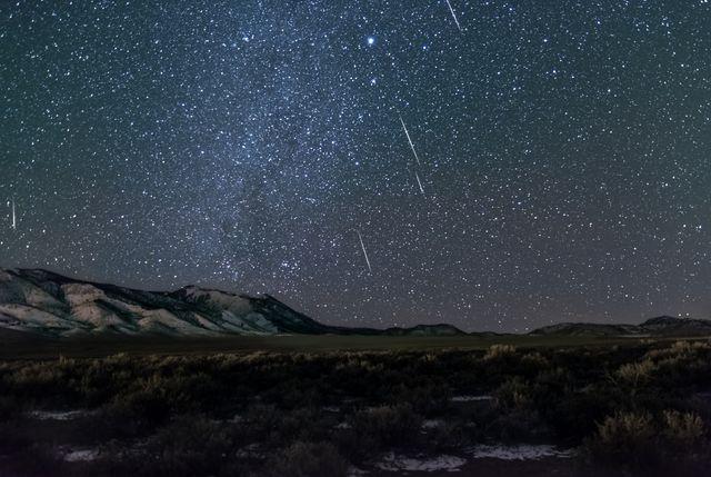 Geminid meteor shower in rural Utah.