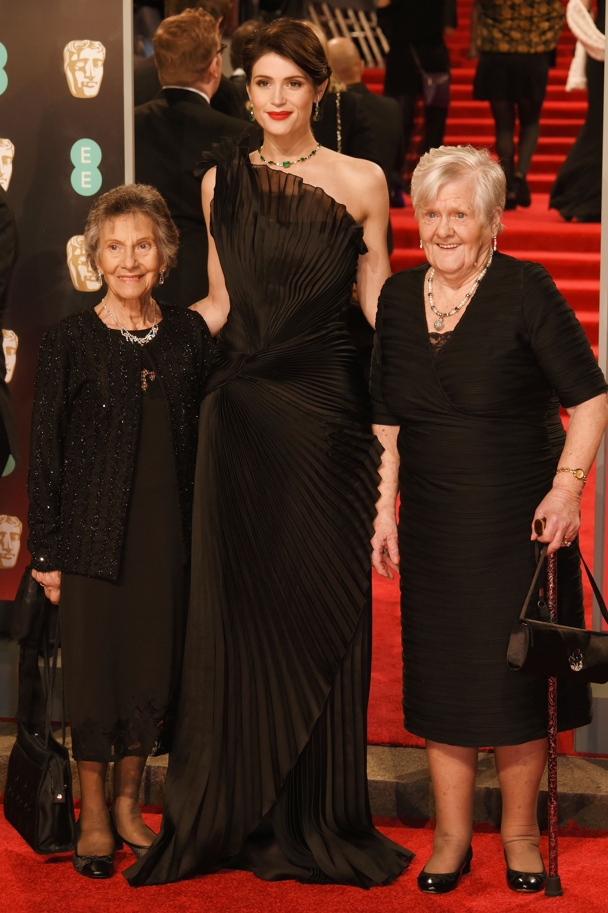 Many stars walked the Baftas red carpet with notable female activists and leaders