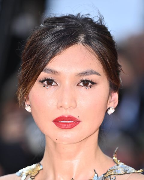 cannes, france   july 17 english actress gemma chan arrives for the screening of the film oss 117  alerte rouge en afrique noire oss 117  from africa with love and the closing ceremony of the 74th annual cannes film festival in cannes, france on july 17, 2021 photo by mustafa yalcinanadolu agency via getty images