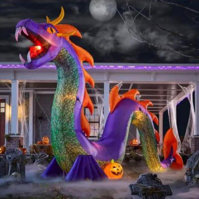 gemmy 10 foot serpent snake halloween inflatable