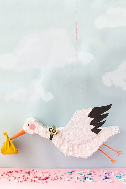 gender reveal ideas stork pinata