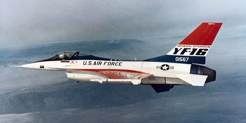 Prototype of the F-16 Air Combat Fighter