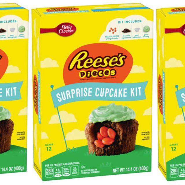 betty crocker reese's pieces surprise cupcake kit