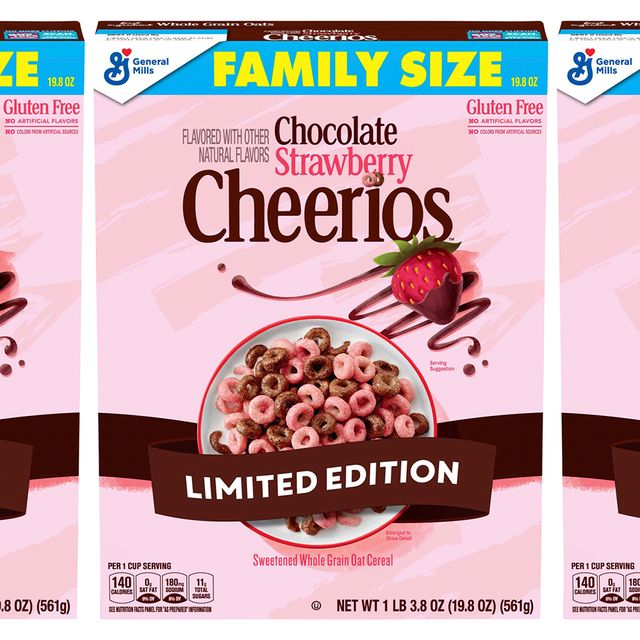 general mills cheerios chocolate strawberry cereal